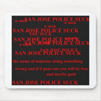 san jose police mousepad
