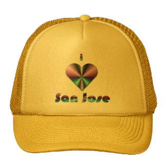 San Jose -- Purple & Turquoise Mesh Hats