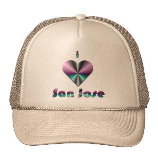 San Jose -- Purple & Turquoise Trucker Hats