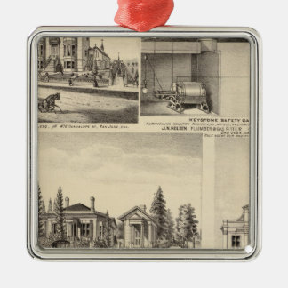 San Jose residences, businesses, college Christmas Ornament