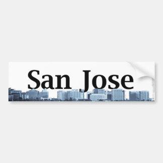San Jose Skyline with San Jose in the Sky Car Bumper Sticker
