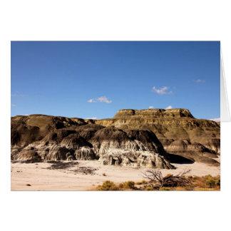 San Juan Badlands, New Mexico Greeting Card