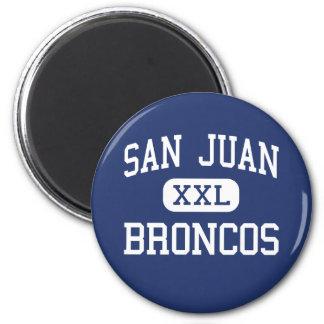 San Juan - Broncos - High School - Blanding Utah 6 Cm Round Magnet