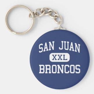 San Juan - Broncos - High School - Blanding Utah Keychain