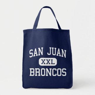 San Juan - Broncos - High School - Blanding Utah Grocery Tote Bag