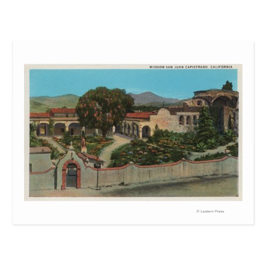 San Juan Capistrano, CAView of the Mission Postcard