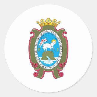 San Juan Coat Of Arms 18th Century Round Sticker