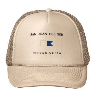 San Juan Del Sur Nicaragua Alpha Dive Flag Hat