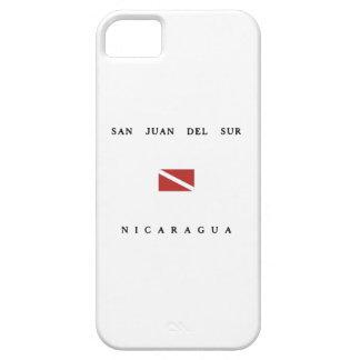 San Juan Del Sur Nicaragua Scuba Dive Flag iPhone 5 Cases