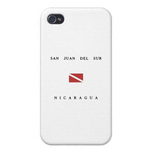 San Juan Del Sur Nicaragua Scuba Dive Flag Covers For iPhone 4