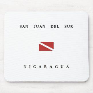 San Juan Del Sur Nicaragua Scuba Dive Flag Mouse Pad