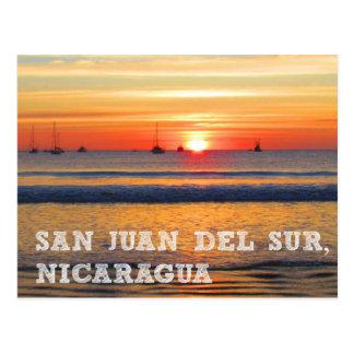 San Juan del Sur, Nicaragua Sunset Postcard