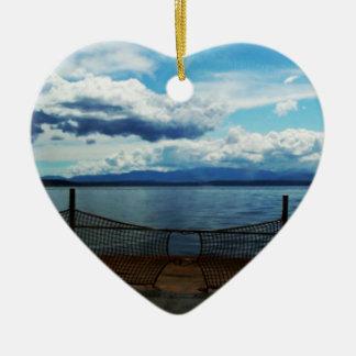 San Juan Ferry Ceramic Heart Decoration
