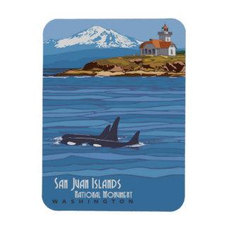 San Juan Islands Rectangular Photo Magnet