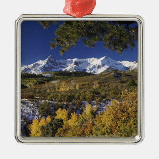San Juan Mountains and Aspen trees in fallcolor Christmas Ornament