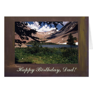 San Juan Mountains Template Happy Birthday, Dad Card