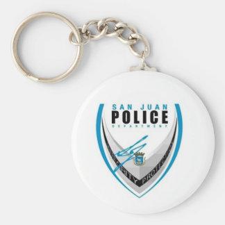 San Juan Police Basic Round Button Key Ring