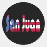 San Juan, Puerto Rico Round Sticker