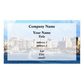 San Juan Skyline Business Card Template