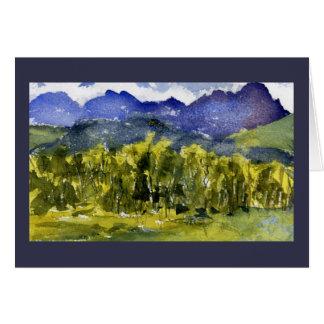 San Juans in Autumn Plein Air Watercolor Greeting Card
