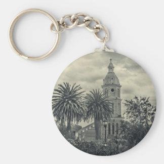 San Luis Church Otavalo Ecuador Basic Round Button Key Ring