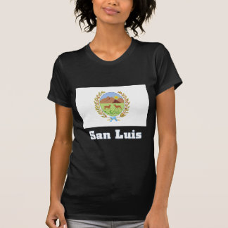 San Luis flag with name Tshirts