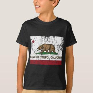 san luis obispo california flag t shirt