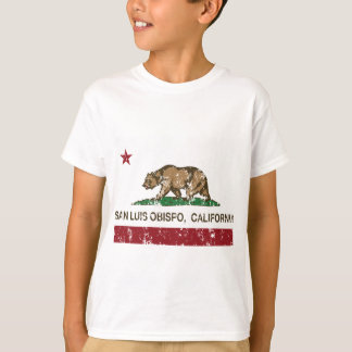 san luis obispo california flag T-Shirt