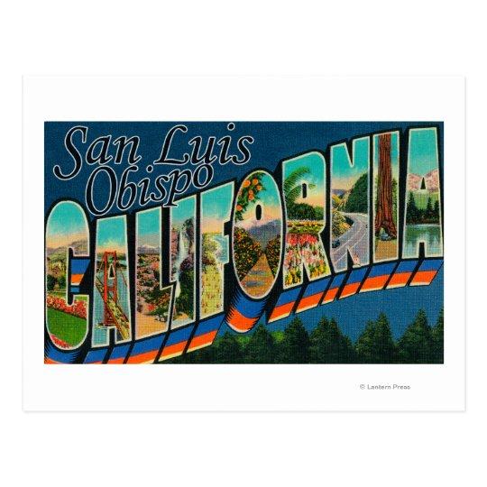 San Luis Obispo, California - Large Letter Scene