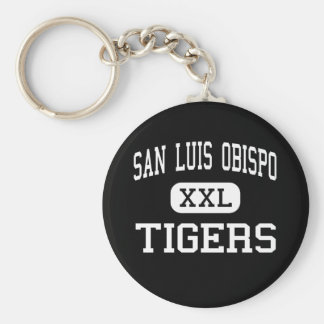 San Luis Obispo - Tigers - High - San Luis Obispo Basic Round Button Key Ring