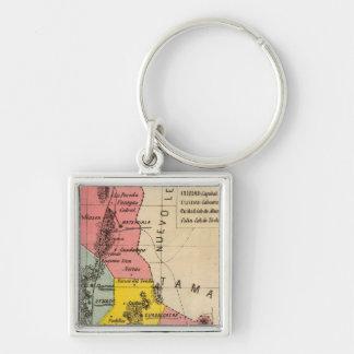 San Luis Potosi, Mexico Silver-Colored Square Key Ring