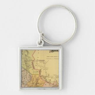 San Luis Potosi Silver-Colored Square Key Ring