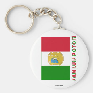 San Luis Potosí Unofficial Flag Basic Round Button Key Ring