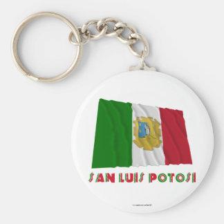 San Luis Potosí Waving Unofficial Flag Key Chain