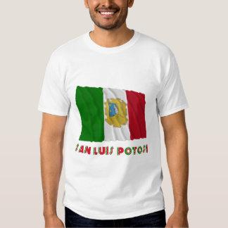 San Luis Potosí Waving Unofficial Flag T Shirts