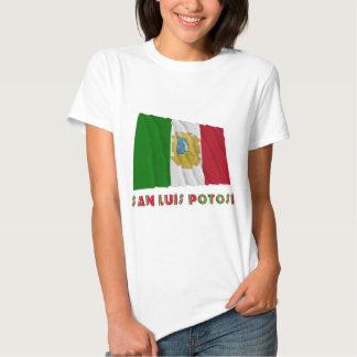 San Luis Potosí Waving Unofficial Flag T-shirts