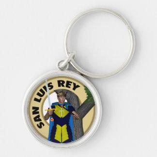 San Luis Rey de Francia Silver-Colored Round Key Ring