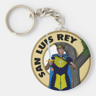 San Luis Rey de Francia Basic Round Button Key Ring
