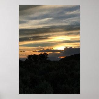 San Luis Valley Sunset Poster