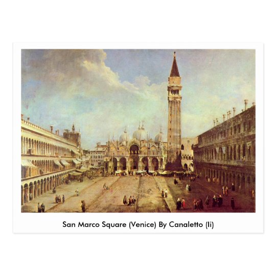 San Marco Square (Venice) By Canaletto (Ii) Postcard