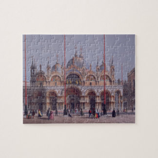 San Marco, Venice, engraved by Brizeghel (litho) Jigsaw Puzzle