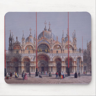 San Marco, Venice, engraved by Brizeghel (litho) Mouse Mat