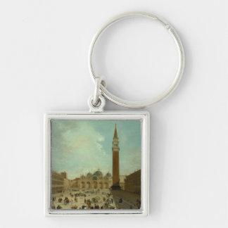 San Marco, Venice Silver-Colored Square Key Ring
