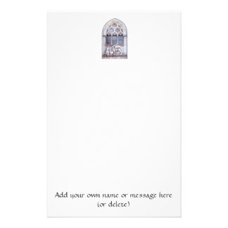 San Marco Winged Lion Stained Glass Window Stationery