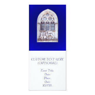 San Marco Winged Lion Window 10 Cm X 24 Cm Invitation Card