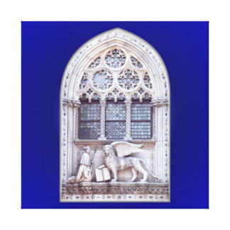 San Marco Winged Lion Window Gallery Wrapped Canvas