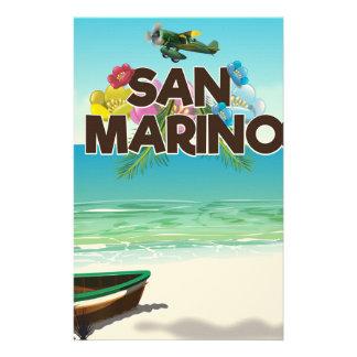 San Marino Beach travel poster Stationery