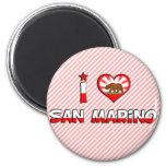 San Marino, CA 6 Cm Round Magnet