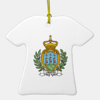 San Marino Coat of Arms Double-Sided T-Shirt Ceramic Christmas Ornament