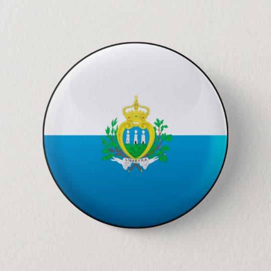 San Marino Flag 6 Cm Round Badge